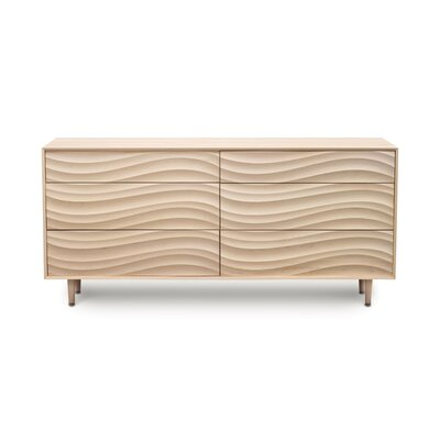 Wave 6 Drawer Dresser Finish: Parchment Maple, Leg Material: Wood