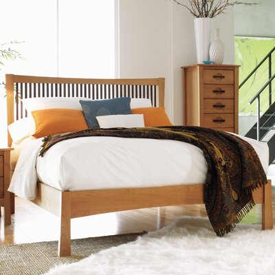 Berkeley Platform Bed Size: Cal King, Color: Cognac Cherry