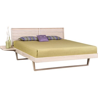 Contour Platform Bed Size: King, Color: Weathered Ash