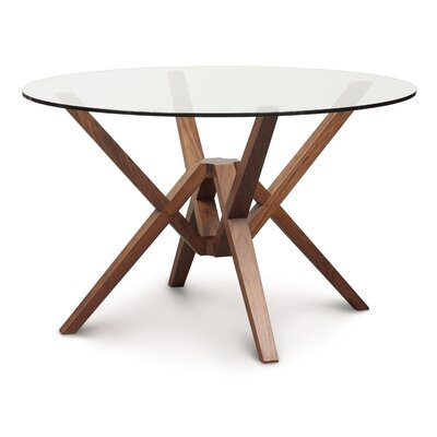 Exeter Dining Table Size: 30 H x 48 W x 48 D, Finish: Smoke Cherry