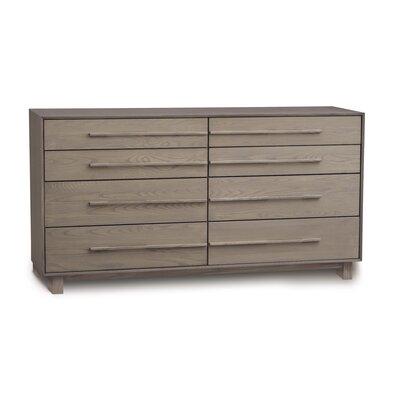 Sloane 8 Drawer Double Dresser Frame Color: Weathered Ash