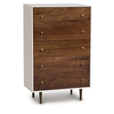 MiMo 5 Drawer Chest Leg Color: Nickel