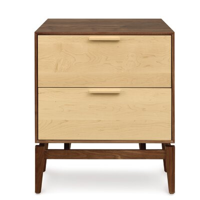 SoHo 2 Drawer Dresser Frame Color: Cherry/Walnut
