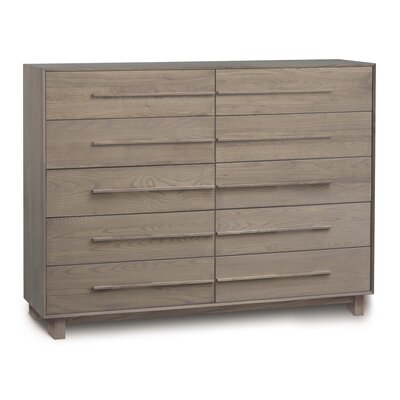 Sloane 10 Drawer Double Dresser Frame Color: Weathered Ash