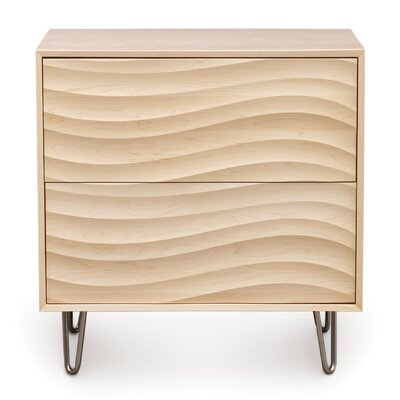 Wave 2 Drawer Dresser Frame Color: Parchment Maple