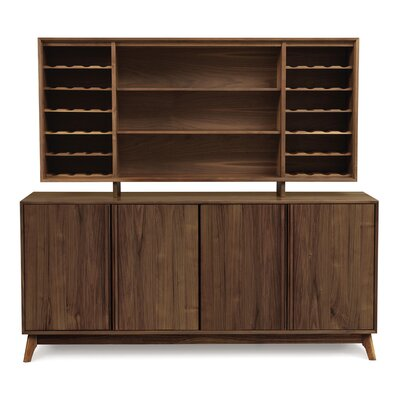 Catalina Dining Hutch Color: Natural Walnut