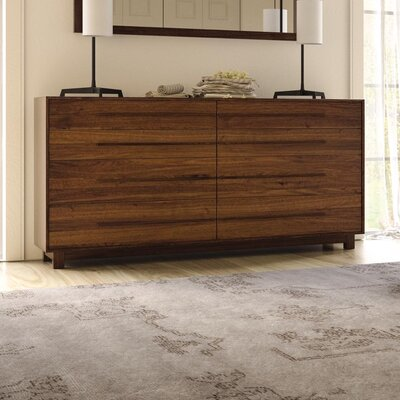 Sloane 8 Drawer Double Dresser Frame Color: Natural Walnut