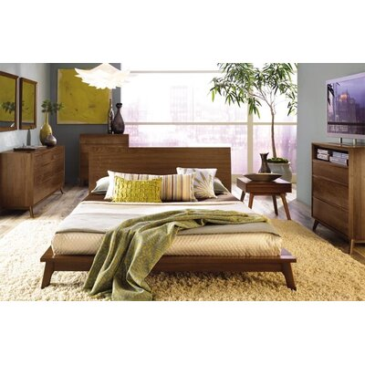 Catalina 10 Drawer Double Dresser Frame Color: Walnut