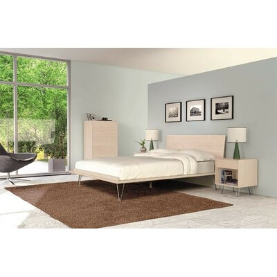 Canvas 10 Drawer Double Dresser Frame Color: Bright White Maple, Leg Material: Wood