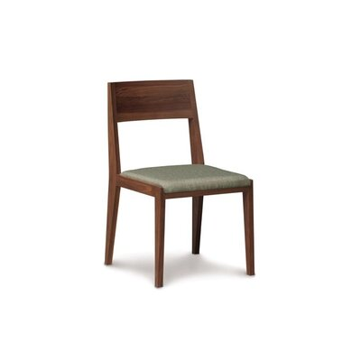 Kyoto Solid Wood Dining Chair Frame Color: Sand Ash, Upholstery Color: Ebony
