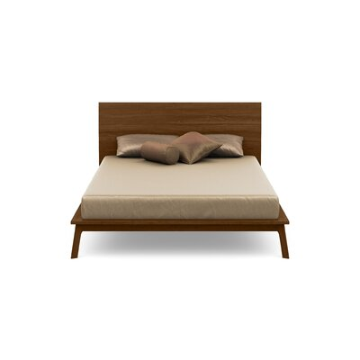 Catalina Platform Bed With Mattress Size: Queen, Headboard Height: 37, Color: Natural Walnut