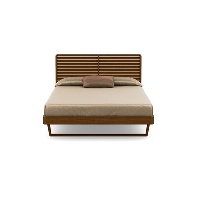 Contour Platform Bed Size: Queen, Color: Natural Walnut