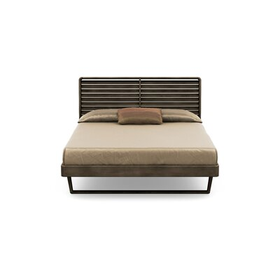 Contour Platform Bed Size: King, Color: Seared Ash