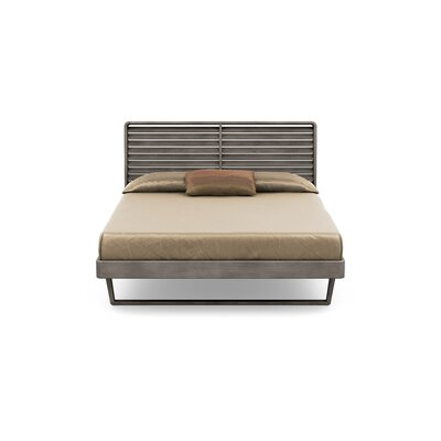 Contour Platform Bed Size: Queen, Color: Weathered Ash
