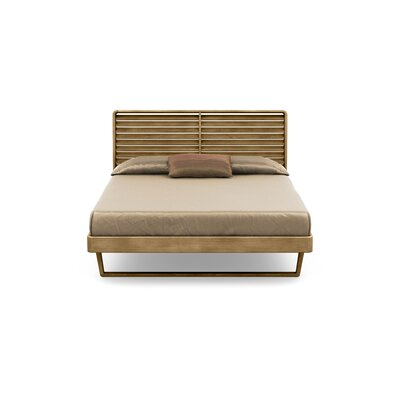 Contour Platform Bed Size: King, Color: Sand Ash