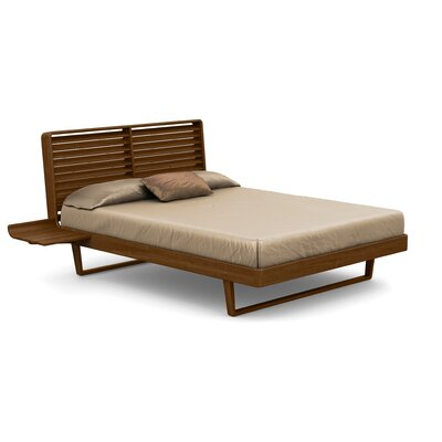 Contour Platform Bed Size: Queen, Finish: Natural Walnut