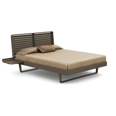 Contour Platform Bed Size: King, Color: Taupe Ash