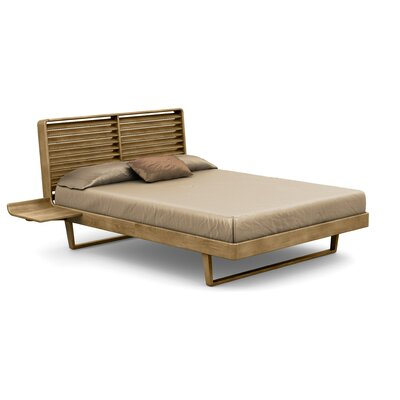 Contour Platform Bed Size: King, Finish: Natural Walnut Coat