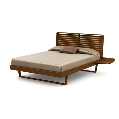 Contour Platform Bed Size: King, Finish: Natural Walnut