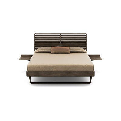 Contour Platform Bed Size: Queen, Color: Seared Ash