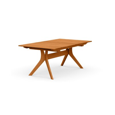 Audrey Extendable Dining Table Color: Natural Cherry, Size: 30 H x 42 W x 66 D