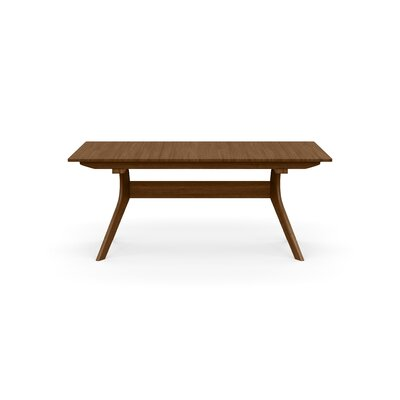 Audrey Extendable Dining Table Color: Natural Walnut, Size: 30 H x 38 W x 66 D