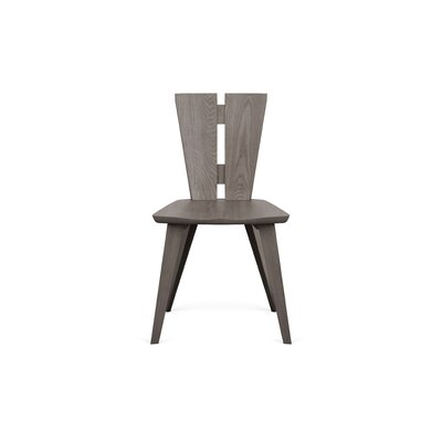 Axis Solid Wood Dining Chair Color: Weathered Ash
