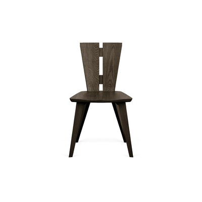 Axis Solid Wood Dining Chair Color: Seared Ash