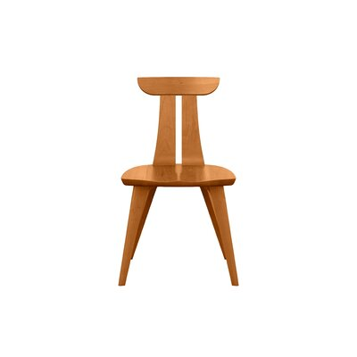 Estelle Solid Wood Dining Chair Chair Finish: Natural Cherry