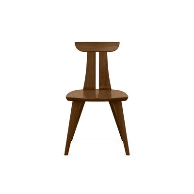 Estelle Solid Wood Dining Chair Chair Finish: Walnut
