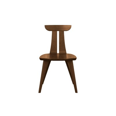 Estelle Solid Wood Dining Chair Chair Finish: Saddle Cherry