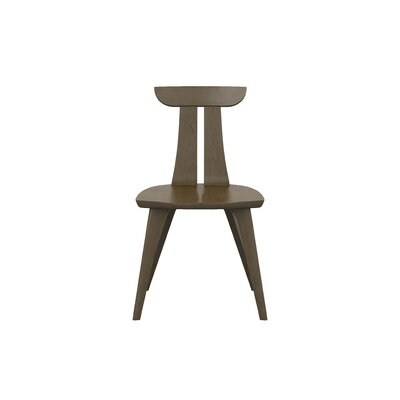 Estelle Solid Wood Dining Chair Color: Taupe Ash