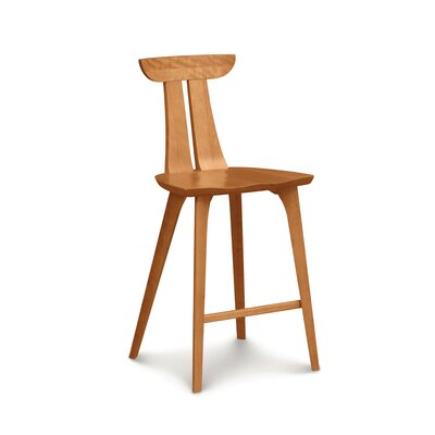 Estelle 26 Bar Stool Color: Cognac Cherry