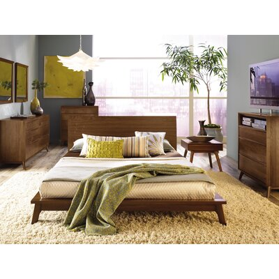 Catalina 1 Drawer Nightstand Color: Natural Walnut, Size: 17