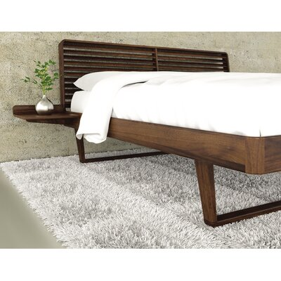 Contour Platform Bed Size: King, Color: Natural Walnut Coat