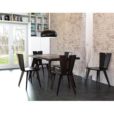 Axis Dining Table Color: Seared Ash, Size: 30 H x 42 W x 84 D