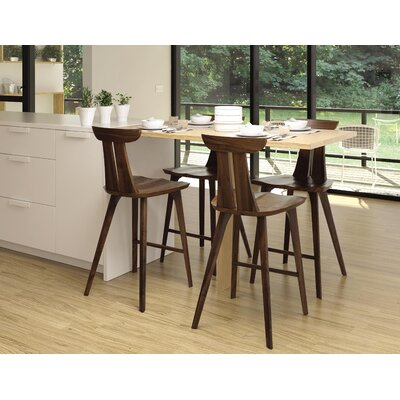 Estelle 26 Bar Stool Color: Natural Walnut