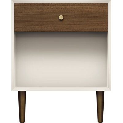 MiMo 1 Drawer Nightstand Leg Color: Bronze