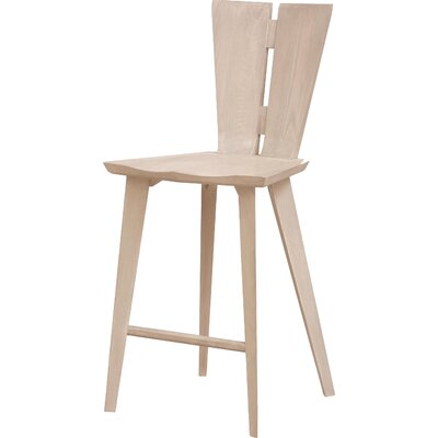 Axis Bar Stool Color: Soaped Ash