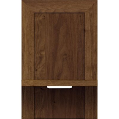 Moduluxe Nightstand Color: Natural Walnut, Size: 35 H x 18.5 W x 18 D