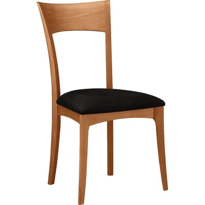 Ingrid Solid Wood Dining Chair Upholstery Color: Turquoise Fabric, Frame Color: Natural Cherry