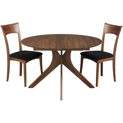 Audrey Extendable Dining Table Color: Natural Walnut