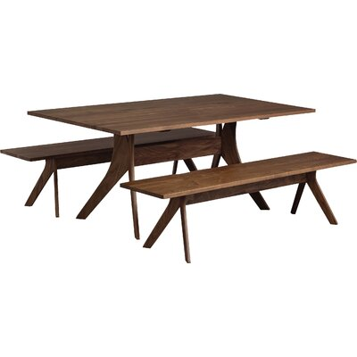 Audrey Dining Table Color: Natural Walnut, Table Size: 30 H x 40 W x 72 D
