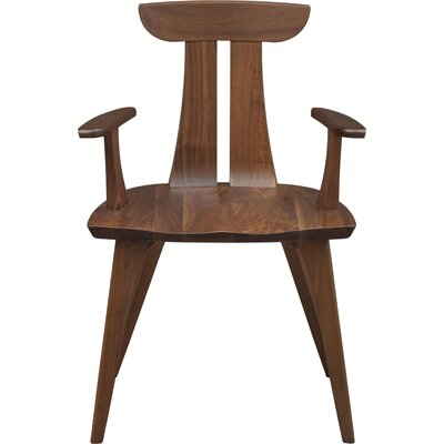 Estelle Solid Wood Dining Chair Color: Natural Walnut