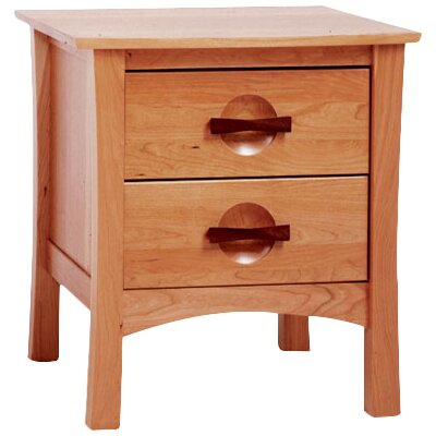 Berkeley 2 Drawer Nightstand Color: Autumn Cherry