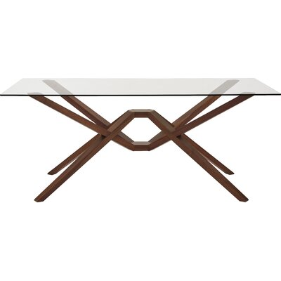 Exeter Dining Table Size: 30 H x 84 W x 42 D, Finish: Smoke Cherry