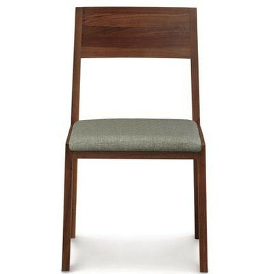 Kyoto Solid Wood Dining Chair Upholstery Color: Coffee, Frame Color: Soaped Ash