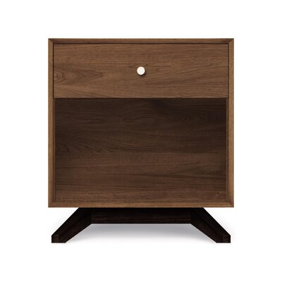 Astrid 1 Drawer Nightstand Color: Dark Chocolate Maple