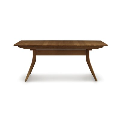 Catalina Extendable Dining Table Color: Walnut, Size: 30 H x 46 W x 72 D