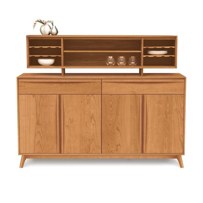 Catalina Hutch Color: Natural Cherry